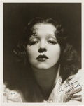 Movie/TV Memorabilia:Autographs and Signed Items, A Clara Bow Signed Black and White Photograph, 1944....