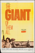 "Movie Posters:Drama, Giant (Warner Brothers, R-1970). One Sheet (27"" X 41""). Drama.. ..."