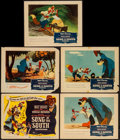 "Movie Posters:Animation, Song of the South (Buena Vista, R-1956). Title Lobby Card &Lobby Cards (4) (11"" X 14""). Animation.. ... (Total: 5 Items)"