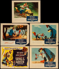 """Song of the South (Buena Vista, R-1956). Title Lobby Card & Lobby Cards (4) (11"""" X 14""""). Animation. ... (T..."""