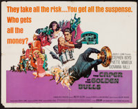 """The Caper of the Golden Bulls & Other Lot (Embassy, 1967). Half Sheet (22"""" X 28"""") & Lobby Card..."""