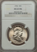 Franklin Half Dollars: , 1952 50C MS65 Full Bell Lines NGC. NGC Census: (284/101). PCGSPopulation (1066/299). Numismedia Wsl. Price for problem fr...