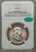 Franklin Half Dollars: , 1956 50C MS66 NGC. CAC. NGC Census: (612/1247). PCGS Population(604/10). Mintage: 4,000,000. Numismedia Wsl. Price for pro...