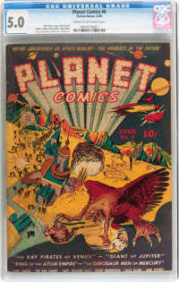 Planet Comics #6 (Fiction House, 1940) CGC VG/FN 5.0 Cream to off-white pages