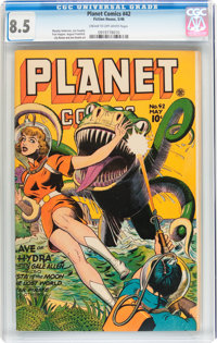 Planet Comics #42 (Fiction House, 1946) CGC VF+ 8.5 Cream to off-white pages