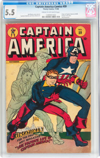 Captain America Comics #59 (Timely, 1946) CGC FN- 5.5 Cream to off-white pages