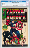 Silver Age (1956-1969):Superhero, Captain America #100 (Marvel, 1968) CGC NM- 9.2 Off-white to white pages....