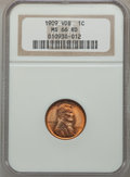 Lincoln Cents: , 1909 VDB 1C MS66 Red NGC. NGC Census: (1208/81). PCGS Population(2167/238). Mintage: 27,995,000. Numismedia Wsl. Price for...