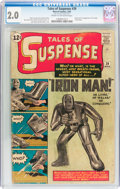 Silver Age (1956-1969):Superhero, Tales of Suspense #39 (Marvel, 1963) CGC GD 2.0 Cream to off-white pages....