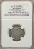 Colonials, 1741-O SOU M French Colonies Sou Marque -- Improperly Cleaned -- NGC Details. VF. NGC Census:...