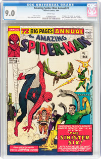 The Amazing Spider-Man Annual #1 (Marvel, 1964) CGC VF/NM 9.0 White pages
