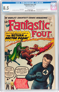 Fantastic Four #10 (Marvel, 1963) CGC VF+ 8.5 Off-white to white pages