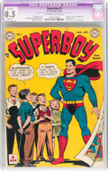 Golden Age (1938-1955):Superhero, Superboy #1 (DC, 1949) CGC Apparent VF+ 8.5 Slight (P) Off-white towhite pages....