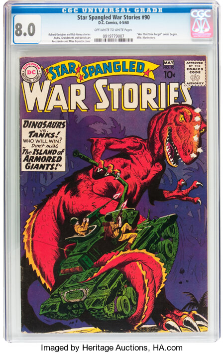 Star Spangled War Stories #90 (DC, 1960) CGC VF 8.0 Off-white to white pages....