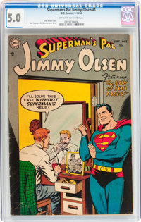 Superman's Pal Jimmy Olsen #1 (DC, 1954) CGC VG/FN 5.0 Off-white to white pages