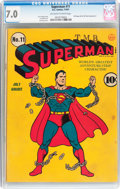 Golden Age (1938-1955):Superhero, Superman #11 (DC, 1941) CGC FN/VF 7.0 Off-white to white pages....