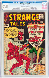 Strange Tales #115 (Marvel, 1963) CGC VF- 7.5 Cream to off-white pages