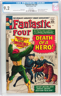 Fantastic Four #32 (Marvel, 1964) CGC NM- 9.2 White pages