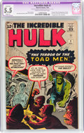 Silver Age (1956-1969):Superhero, The Incredible Hulk #2 (Marvel, 1962) CGC Apparent FN- 5.5 Slight (A) Cream to off-white pages....