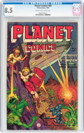 Golden Age (1938-1955):Science Fiction, Planet Comics #68 (Fiction House, 1952) CGC VF+ 8.5 Cream tooff-white pages....