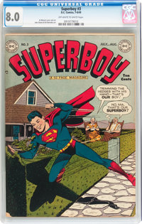 Superboy #3 (DC, 1949) CGC VF 8.0 Off-white to white pages