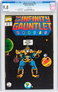 The Infinity Gauntlet #4 (Marvel, 1991) CGC NM/MT 9.8 White pages