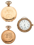 Timepieces:Pocket (post 1900), A Lot Of Three Pocket Watches For Parts Or Repair. ... (Total: 3 Items)