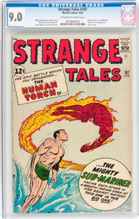 Strange Tales #107 (Marvel, 1963) CGC VF/NM 9.0 Off-white to white pages