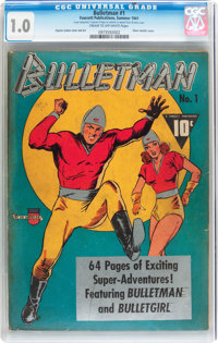 Bulletman #1 (Fawcett Publications, 1941) CGC FR 1.0 Cream to off-white pages