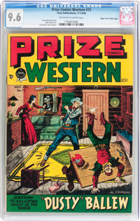 Prize Comics Western #72 Mile High Pedigree (Prize, 1948) CGC NM+ 9.6 Off-white to white pages