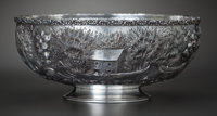 AN AMERICAN SILVER FOOTED BOWL, Baltimore Silver Co., Baltimore, Maryland, circa 1903-1905 Marks: (B-lion head-S)