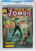 Magazines:Horror, Tales of the Zombie #4 (Marvel, 1974) CGC NM+ 9.6 Off-white to white pages....