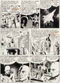 "Original Comic Art:Panel Pages, Wally Wood Weird Fantasy #14 ""The Exile!"" Page 4 OriginalArt (EC, 1952)...."