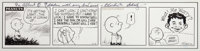 Charles Schulz Peanuts Daily Comic Strip Featuring Alfred E. Neuman Original Art dated 7-5-73 (United Feature Synd