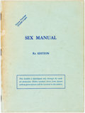 Books:Science & Technology, G. Lombard Kelly. Sex Manual for Those Married or About to Be. Augusta: Southern Medical Supply Company, [1954]. Lat...