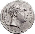 Ancients:Greek, Ancients: GRECO-BACTRIAN KINGDOM. Agathocles (ca. 185-170 BC). AR tetradrachm (35mm, 16.24 gm, 12h). ...