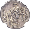 Ancients:Roman Republic, Ancients: Q. Caecilius Metellus Pius Scipio, with P. Licinius Crassus Junianus (47-46 BC). AR denarius (18mm, 3.92 gm, 10h)....