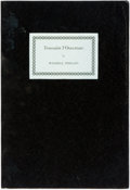 Books:Biography & Memoir, Wendell Phillips. Toussaint l'Ouverture. Stamford: TheOverbrook Press, 1963. Original black wrappers. Mild rubbing ...