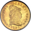 Early Eagles, 1795 $10 13 Leaves MS65 PCGS. BD-5, R.5....