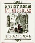 Books:Literature Pre-1900, Clement C. Moore. A Visit from St. Nicholas. New York: Columbia, 1971. Facsimile of the 1848 version. Sixteenmo. Pub...