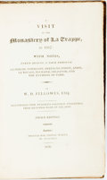 Books:Art & Architecture, W.D. Fellowes. A Visit to the Monastery of La Trappe. London: Thomas M'Lean, 1820. Third edition. With colored engra...