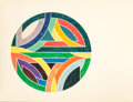 Prints:Contemporary, FRANK STELLA (American, b. 1936). Sinjerli Variation IV,1977. Offset lithograph and screenprint in colors. 32 x 42 inch...