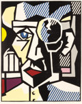 Post-War & Contemporary:Pop, ROY LICHTENSTEIN (American, 1923-1997). Dr. Waldman, 1980.Woodcut with embossing printed in colors on Arches Cover pape...