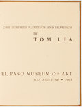 Books:Art & Architecture, [Tom Lea]. One Hundred Paintings and Drawings by Tom Lea. El Paso Museum of Art. May and June 1963. Twelvemo. Pu...