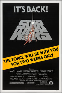 "Star Wars (20th Century Fox, R-1981). One Sheet (27"" X 41""). Science Fiction"