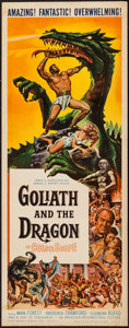 """Movie Posters:Adventure, Goliath and the Dragon (American International, 1960). Insert (14""""X 36""""). Adventure.. ..."""