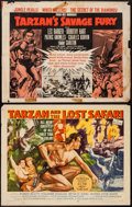 "Movie Posters:Adventure, Tarzan and the Lost Safari & Others Lot (MGM, 1957). HalfSheets (2) (22"" X 28"") Style B & Regular, & Photos (3) (8""X 10"").... (Total: 5 Items)"