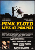 "Movie Posters:Rock and Roll, Pink Floyd: Live at Pompeii (EMI, 1972). Promotional British Crown (13.5"" X 19.5""). Rock and Roll.. ..."