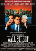 "Movie Posters:Crime, Wall Street (20th Century Fox, 1987). German A1 (23.5"" X 33""). Crime.. ..."