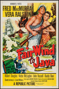 "Movie Posters:Adventure, Fair Wind to Java (Republic, 1953). One Sheet (27"" X 41"")Flat-Folded. Adventure.. ..."